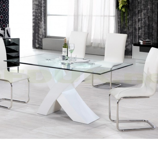 arizona white high gloss dining table with 4 chair cheap home furniture